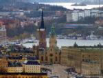 Обзор Стокгольма с вершины телебашни Какнэс